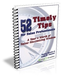 52 Timely Tips for Sales Professionals - Nancy Bleeke