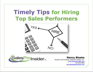 Timely Tips for Hiring Top Sales Performers