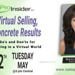 Join Us Tuesday, May 12th for Virtual Selling; Concrete Results – Do's and Don'ts for Selling in a Virtual World