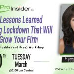 Join Us Tuesday, March 30th for 3 Lessons Learned During Lockdown That Will Grow Your Firm